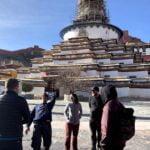 playing at gyangtse stupa