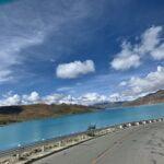 road along yamdrok lake