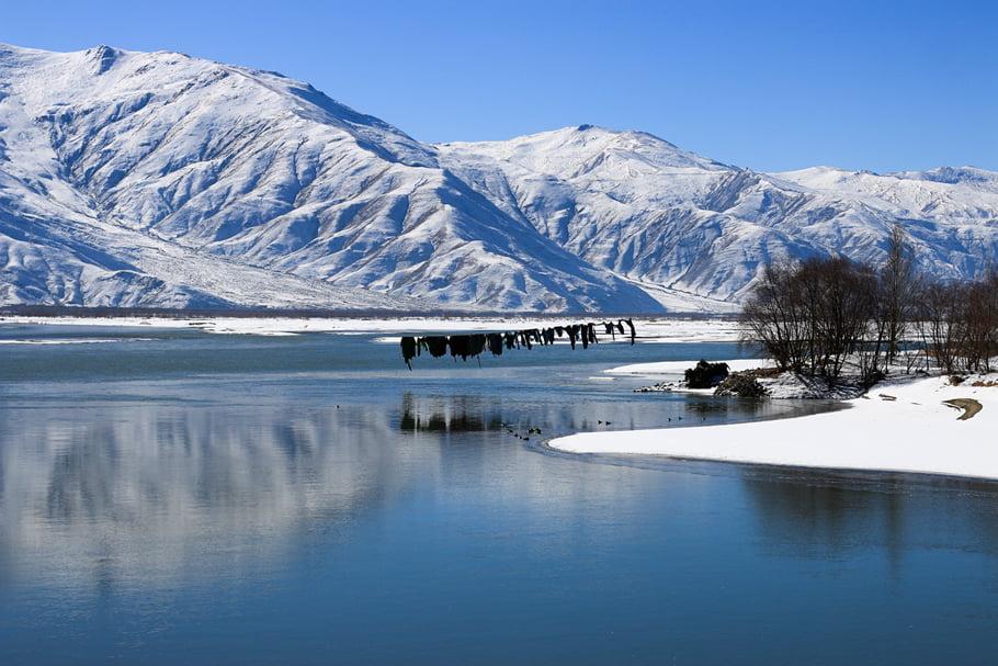 Lhasa River Winter freeze