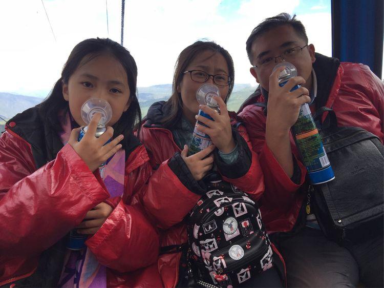Taking Oxygen on Tibet Plateau