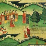 murals-in-Norbulungka-selecting-princess-to-marry-Tibet-Empereormurals-in-Norbulungka-selecting-princess-to-marry-Tibet-Empereor